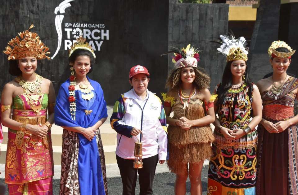Torch Relay Begins For Asian Games In Indonesia