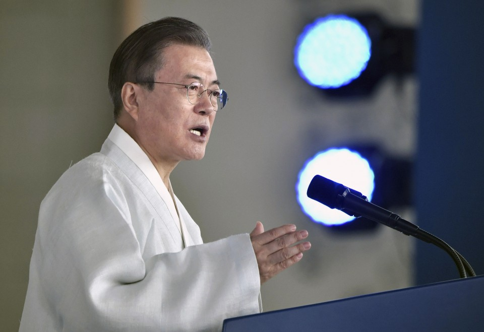 President Moon's Liberation Day speech garnered positive reaction from Japan