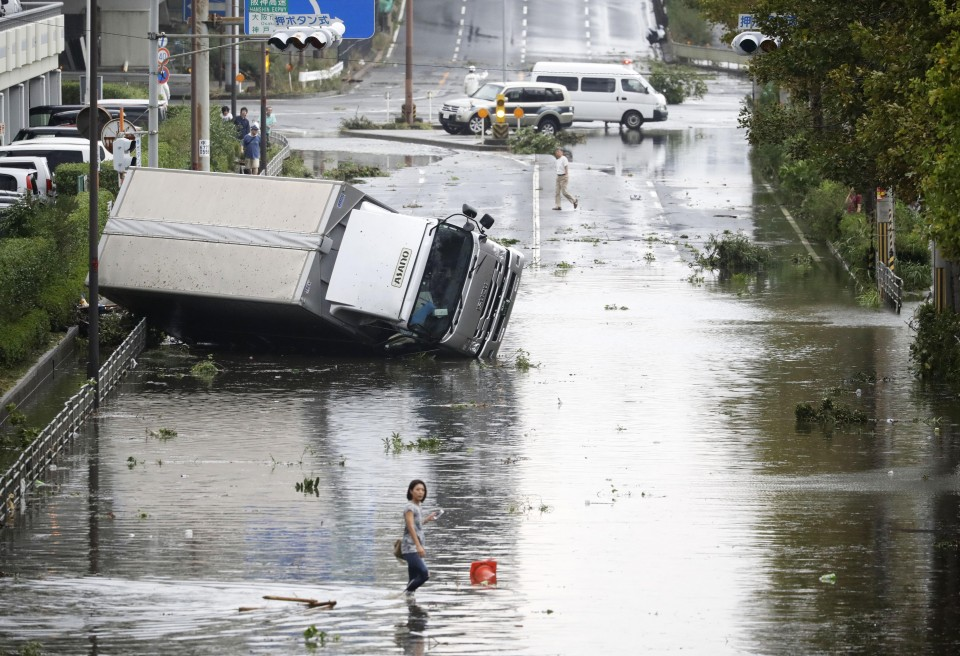 Typhoon Trami hits Japan... millions urged to evacuate