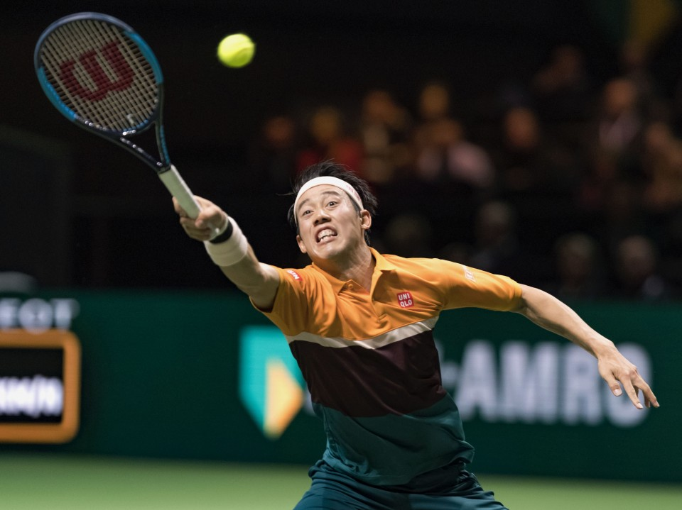Swiss Wawrinka outlasts Nishikori in Rotterdam, faces Monfils in final