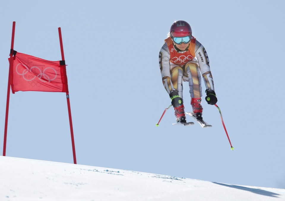 Snowboarder Ester Ledecka snatches shock Winter Olympics gold on borrowed skis