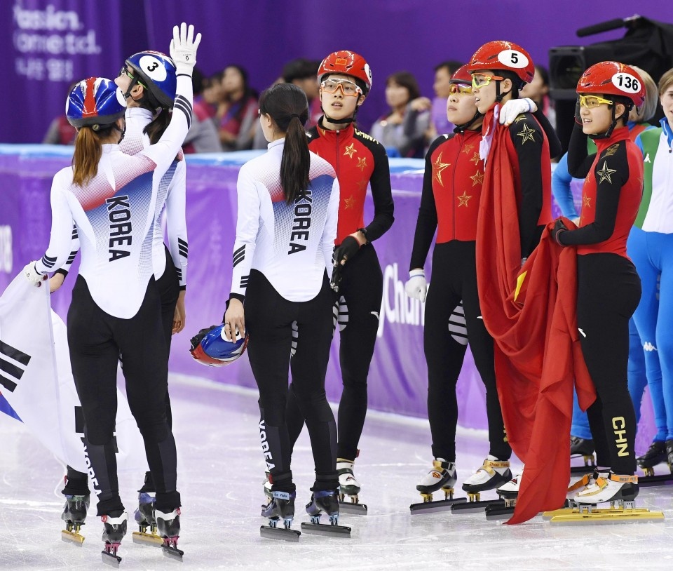 Two South Korean speedskaters come under fire