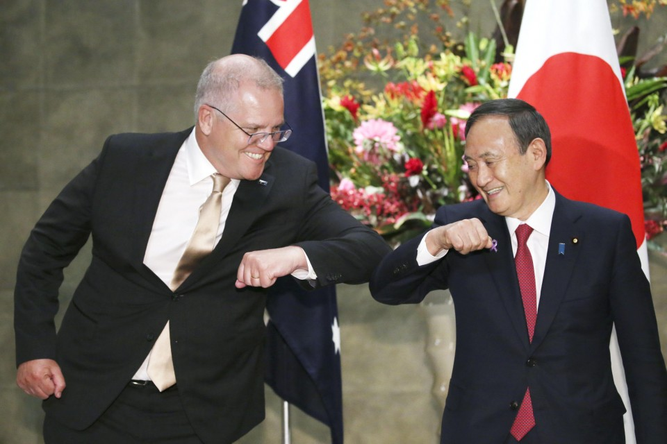 Japan and Australia reinforce Quad bond in message to Biden