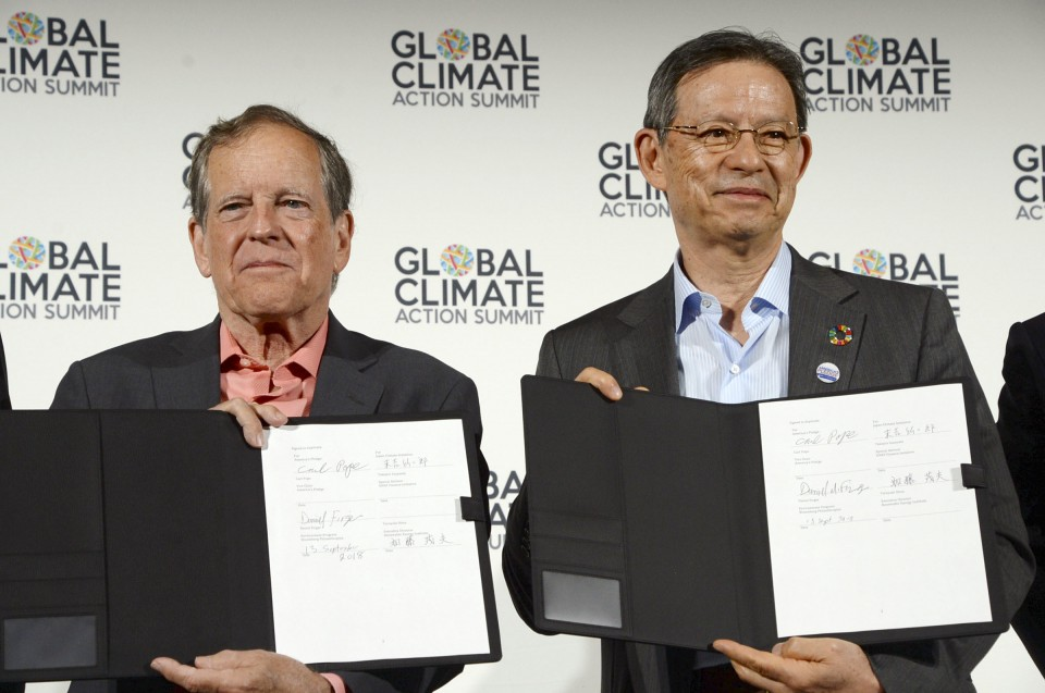 Japan, U.S. non-state actors tie up to fight climate change