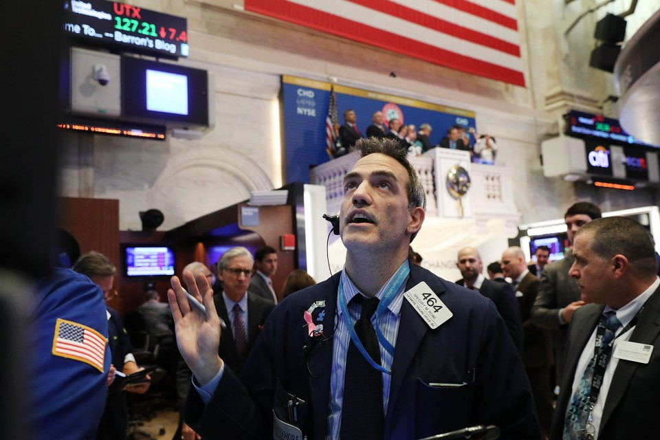 Wall Street enters correction territory as markets plunge