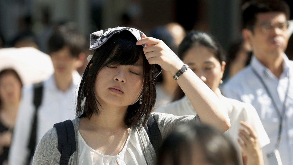Temperature climbs above 40 C again as Japan heat wave continues