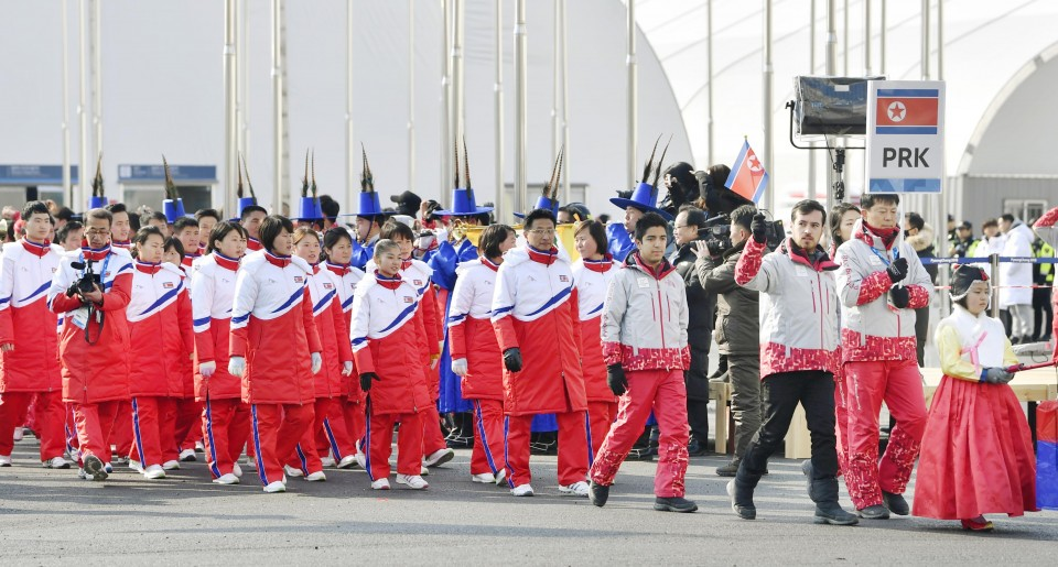 Photos And Video Of North Korea's Military Parade Before The Olympics