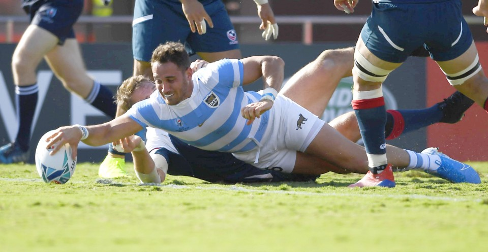 Argentina finish campaign with flurry of tries against USA