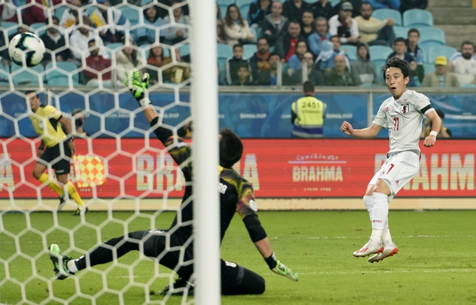 Football: Koji Miyoshi scores twice as Japan draw 2-2 with Uruguay