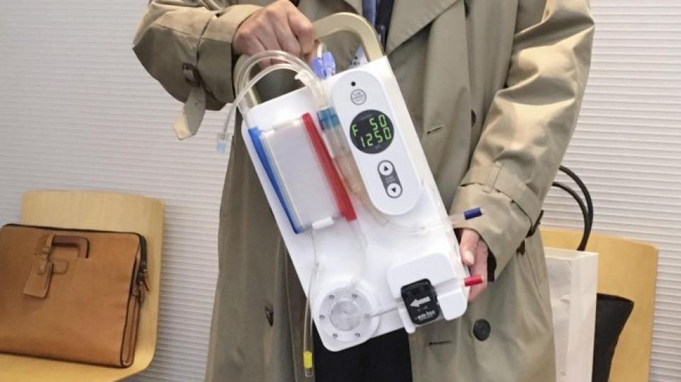 japan team develops briefcasesized dialysis machine