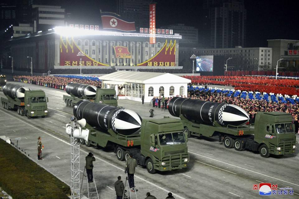 North Korea unveils new missile which can be launched from a submarine