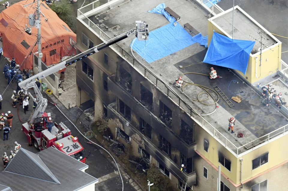 Man held over Kyoto anime studio attack admits to using gasoline