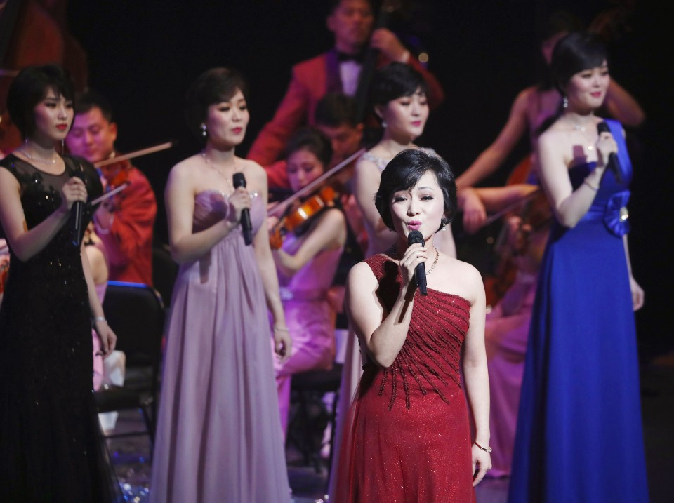 Korea ensemble performs in S. Korea capital to celebrate Olympics
