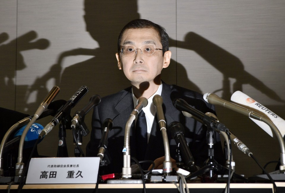 President of Takata Steps Down After Worldwide Recall of Air Bags