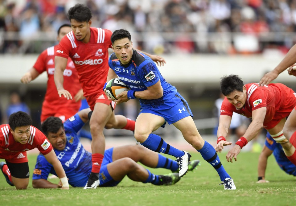 Rugby: Panasonic hammer Kobe Steel to stay perfect