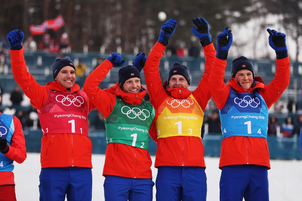 Norway shows dominance in cross-country skiing with men's relay win in PyeongChang