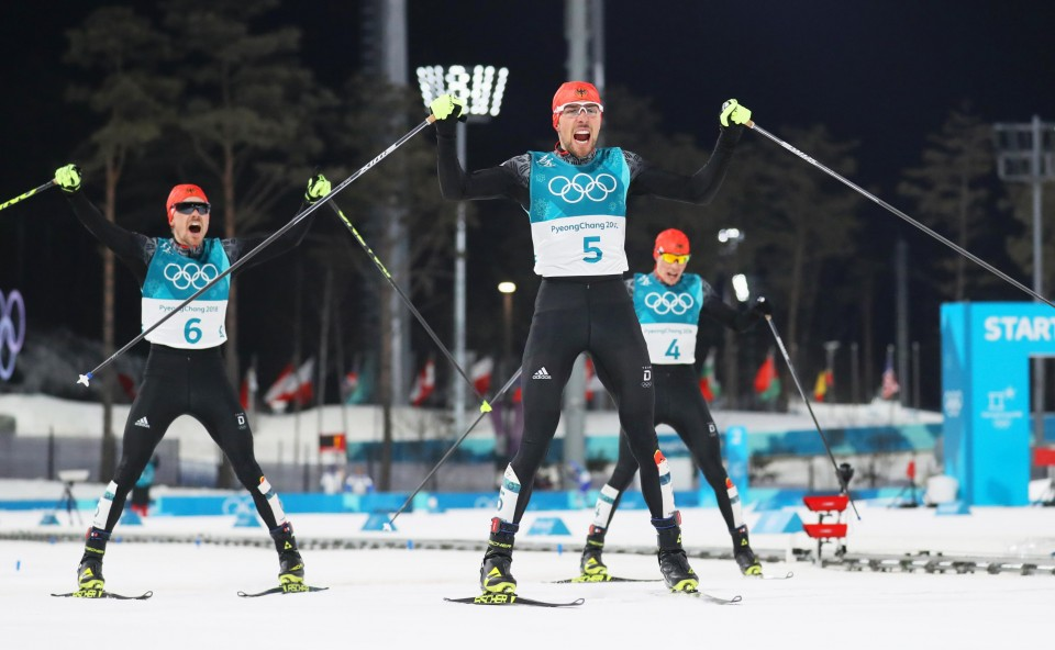 Germany, Norway, Austria go 1-2-3 in Nordic combined