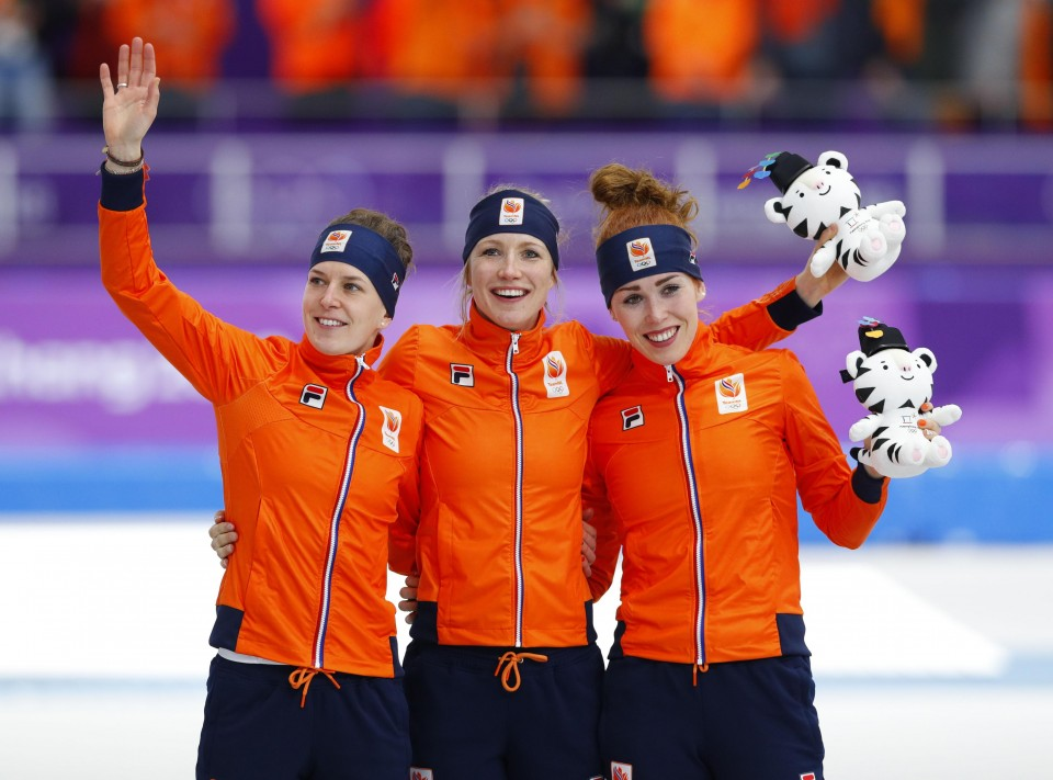 Image result for netherlands women's speed skating sweep