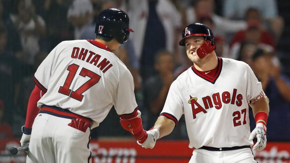 factory authentic 441f1 f2d6c Baseball: Ohtani praises Trout, Angels teammates