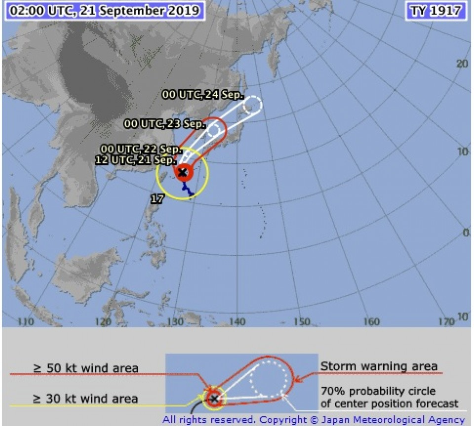 Extreme weather warning issued as typhoon approaches Japan