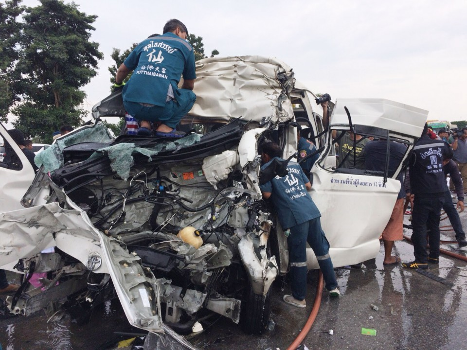 4 Japanese tourists killed in car accident in central Thailand
