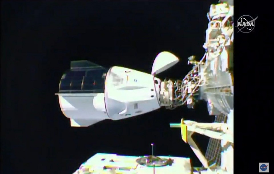 Astronauts aboard SpaceX capsule reach International Space Station