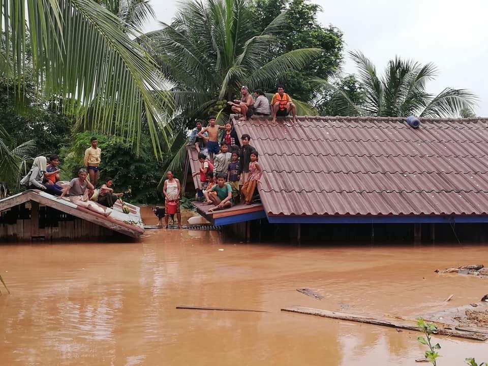 Damage found on Laos dam day before collapse