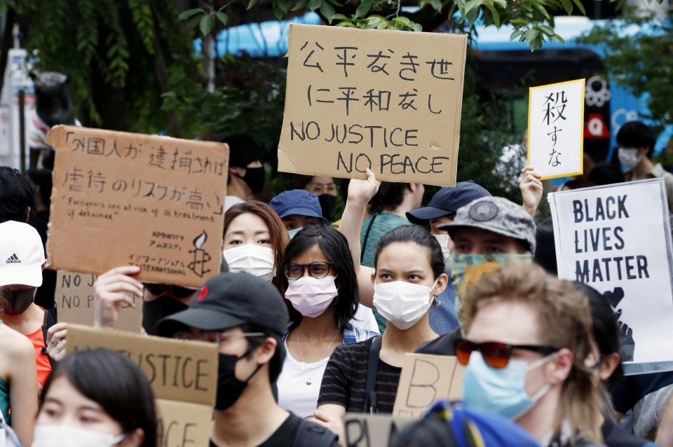 Hundreds take to Tokyo streets in protest at racial injustice