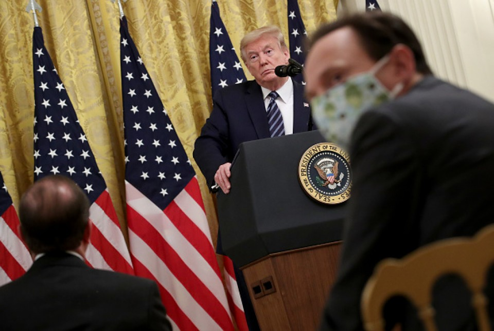 Trump says he's seen evidence virus came from China lab