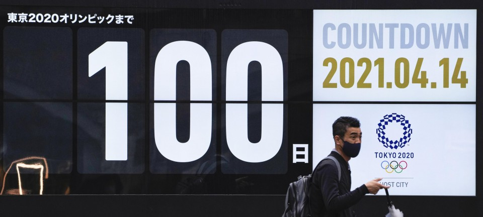 Tokyo vows utmost virus steps with 100 days until Olympics begin