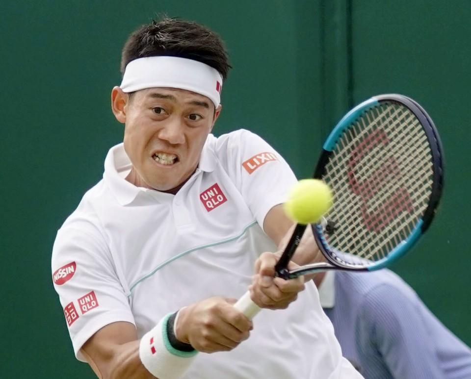 Tennis: Kei Nishikori advances to quarterfinals at Wimbledon