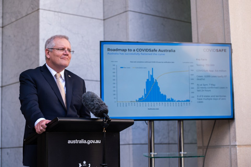 Opening up, Australia maps out staged easing of COVID-19 curbs
