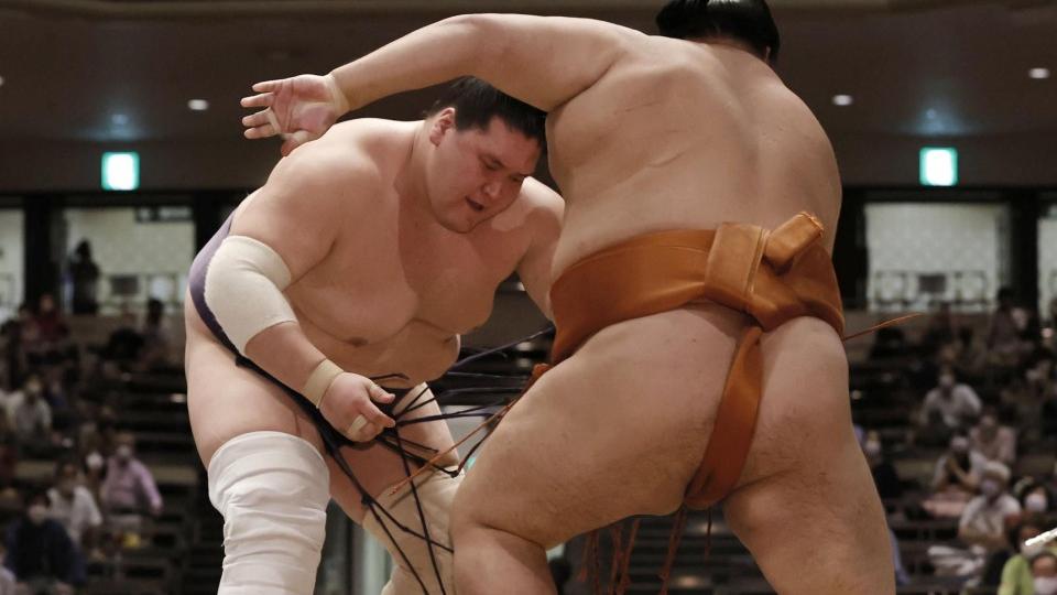 Photo of Sumo: Terunofuji clinches championship in comeback tournament | KYODO NEWS