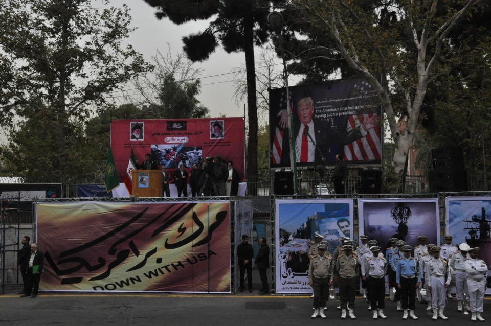 Iran shows off missile to mark 38th anniversary of US Embassy takeover