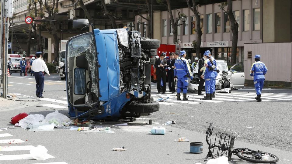 صورة لحادث السير المميت في أبريل 2019 | عبر كيودو