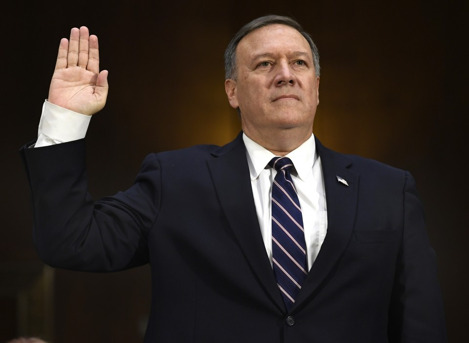 Pompeo makes debut as secretary of state