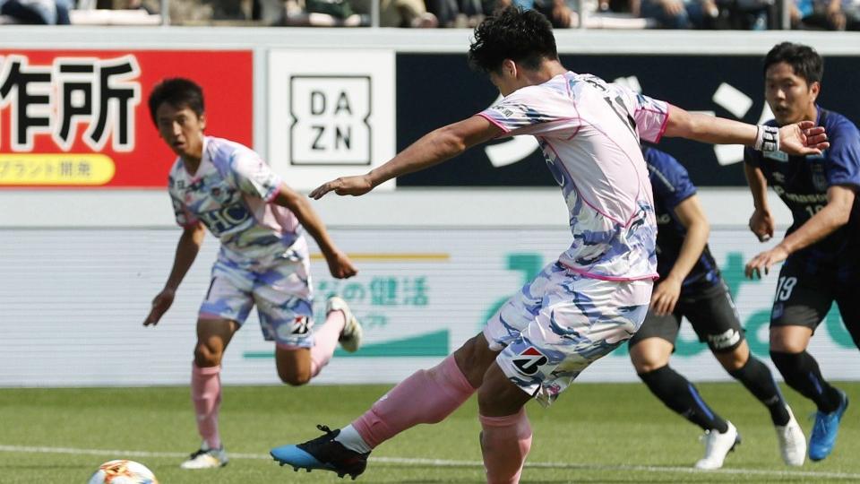 Football Struggling Sagan Find Goal Scoring Groove To Beat Gamba 3 1