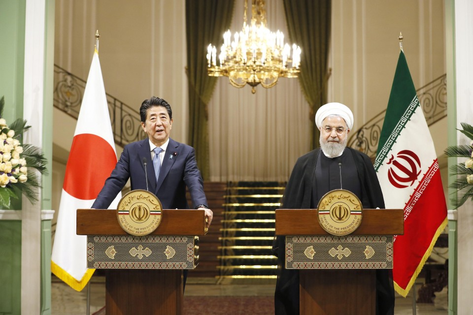 Abe urges Rouhani to avoid escalation of Iran-U S  tensions
