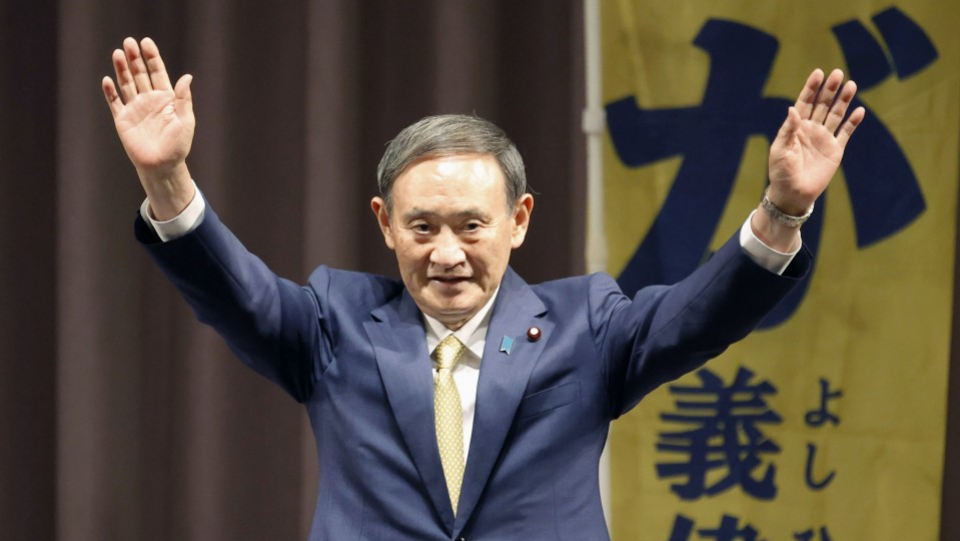 LDP elects Suga as leader to succeed Japan PM Abe
