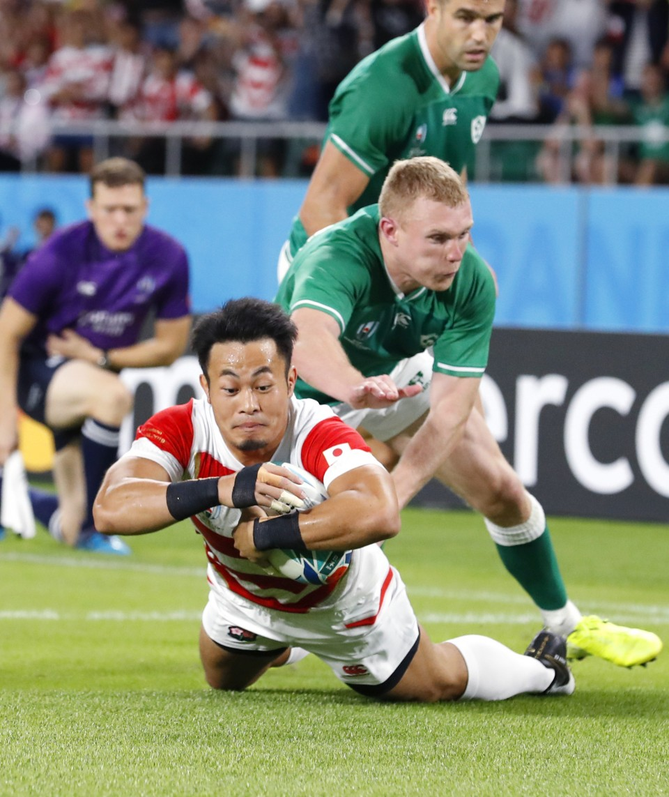 Japan upsets Ireland in Rugby World Cup play