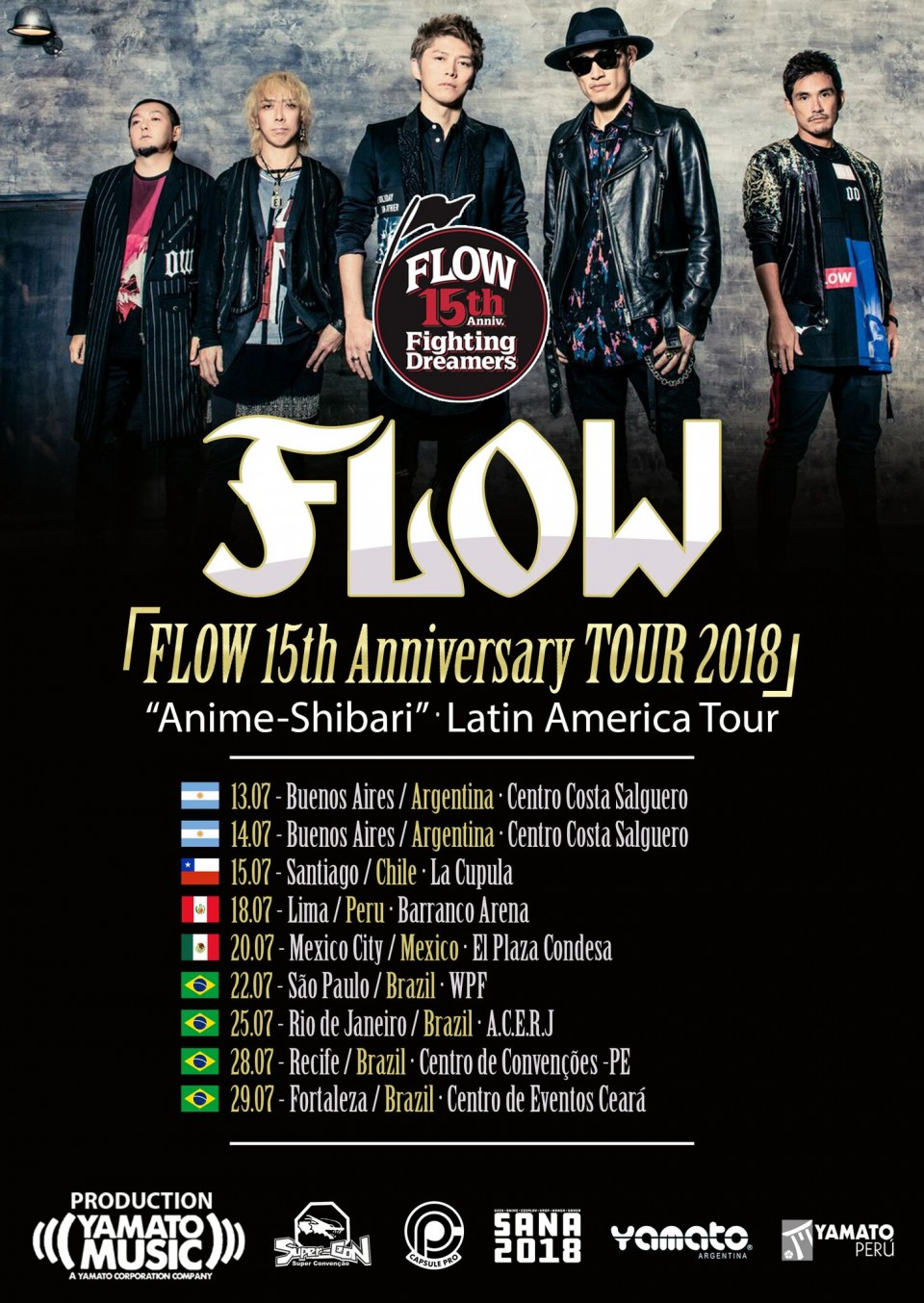 FLOW announces return to Latin America for 15th anniversary